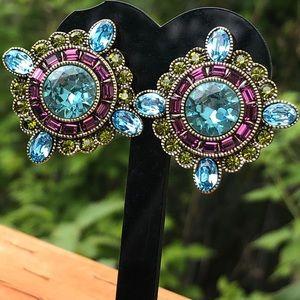 Heidi Daus rare NIB omega earrings